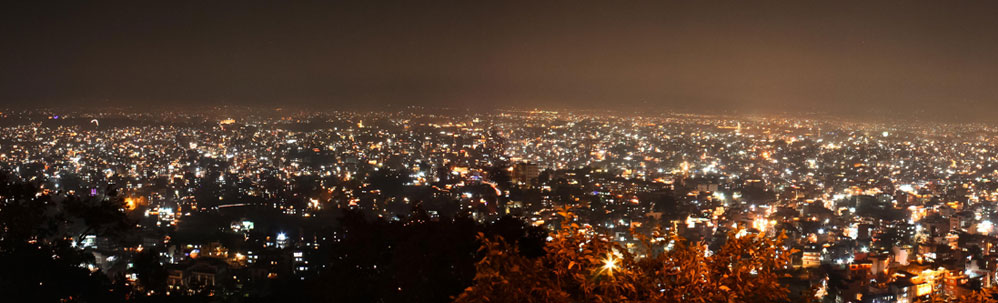 Night View of Kathmandu city